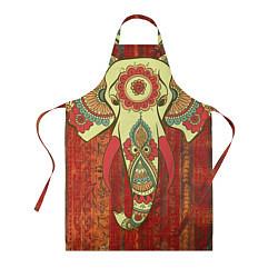 Фартук кулинарный Индийский слон цвета 3D — фото 1
