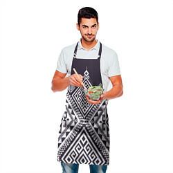 Фартук кулинарный Мильфлер цвета 3D-принт — фото 2
