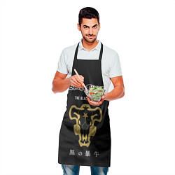 Фартук кулинарный Черные быки Чёрный клевер цвета 3D — фото 2