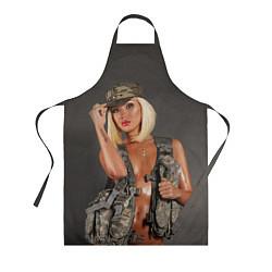 Фартук кулинарный Девушка в форме цвета 3D — фото 1
