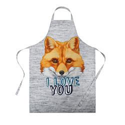 Фартук кулинарный Милая лисичка! цвета 3D — фото 1