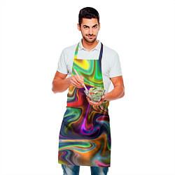 Фартук кулинарный Неоновые разводы цвета 3D — фото 2