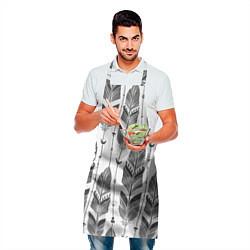 Фартук кулинарный Перья цвета 3D — фото 2
