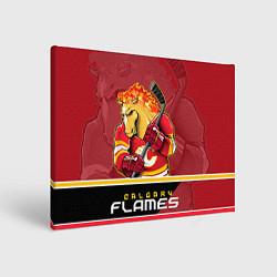 Холст прямоугольный Calgary Flames цвета 3D — фото 1