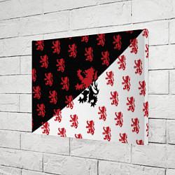Холст прямоугольный Лев герба Нидерландов цвета 3D-принт — фото 2