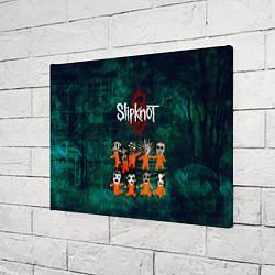 Холст прямоугольный Группа Slipknot цвета 3D-принт — фото 2