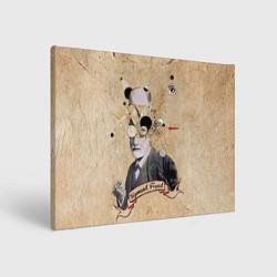 Холст прямоугольный Зигмунд Фрейд цвета 3D — фото 1