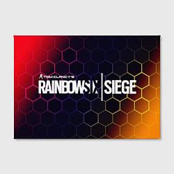 Холст прямоугольный RAINBOW SIX SIEGE РАДУГА 6 цвета 3D-принт — фото 2
