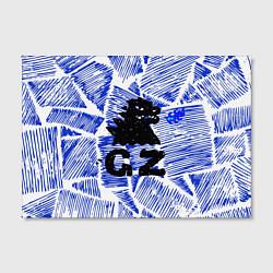 Холст прямоугольный Годзилла цвета 3D-принт — фото 2