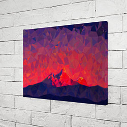 Холст прямоугольный Абстракция цвета 3D — фото 2