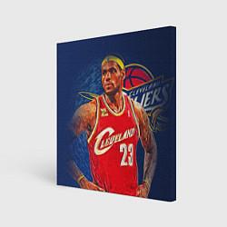 Холст квадратный LeBron 23: Cleveland цвета 3D-принт — фото 1