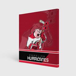 Холст квадратный Carolina Hurricanes цвета 3D-принт — фото 1