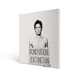 Холст квадратный Generation Extinction цвета 3D-принт — фото 1