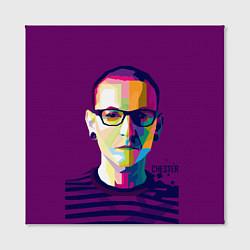 Холст квадратный Честер Беннингтон цвета 3D — фото 2