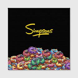 Холст квадратный Simpsons Donuts цвета 3D-принт — фото 2