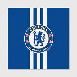 Холст квадратный FC Chelsea: Gold Lines цвета 3D-принт — фото 2