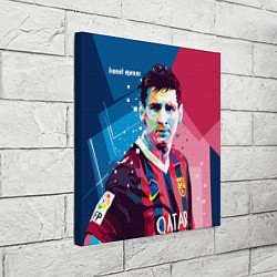 Холст квадратный Lionel Messi цвета 3D-принт — фото 2
