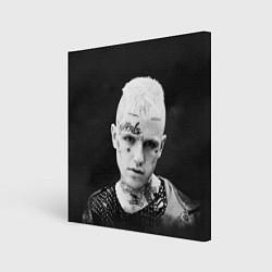Холст квадратный Lil Peep: Black Edition цвета 3D-принт — фото 1