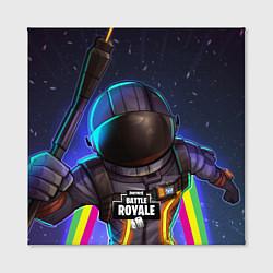 Холст квадратный Fortnite: Space Rainbow цвета 3D — фото 2
