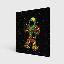 Холст квадратный Космонавт с кальяном цвета 3D-принт — фото 1