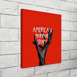 Холст квадратный Американская История Ужасов цвета 3D — фото 2
