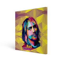 Холст квадратный Kurt Cobain: Abstraction цвета 3D — фото 1