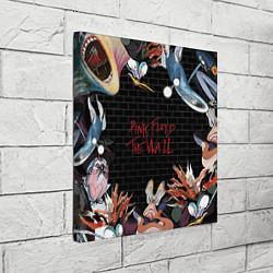 Холст квадратный Pink Floyd: The Wall цвета 3D-принт — фото 2