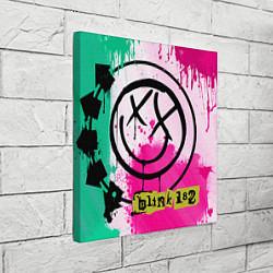 Холст квадратный Blink-182: Purple Smile цвета 3D — фото 2