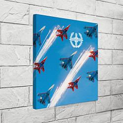 Холст квадратный Самолеты ВВС цвета 3D-принт — фото 2