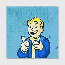 Холст квадратный Fallout: It's okey цвета 3D — фото 2
