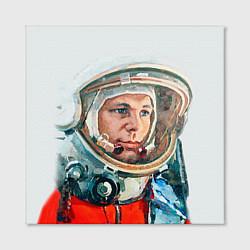 Холст квадратный Гагарин в полете цвета 3D-принт — фото 2
