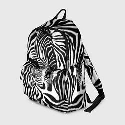 Рюкзак Полосатая зебра цвета 3D-принт — фото 1