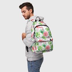 Рюкзак Фламинго в тропиках цвета 3D-принт — фото 2