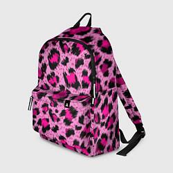 Рюкзак Розовый леопард цвета 3D-принт — фото 1