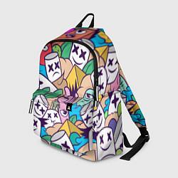 Рюкзак Marshmallow Colour цвета 3D-принт — фото 1