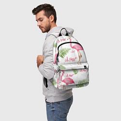 Рюкзак Lil Peep: Pink Flamingo цвета 3D — фото 2