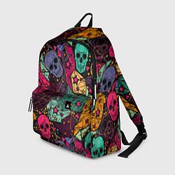 Рюкзак Маскарад черепов цвета 3D — фото 1