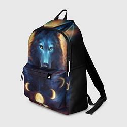 Рюкзак Волк затмения цвета 3D-принт — фото 1