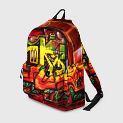 Рюкзак Red Graffiti цвета 3D-принт — фото 1