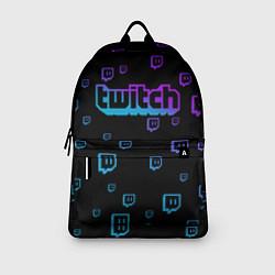 Рюкзак Twitch: Neon Style цвета 3D-принт — фото 2
