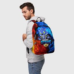 Городской рюкзак с принтом BRAWL STARS LEON, цвет: 3D, артикул: 10202229705601 — фото 2