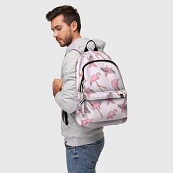 Рюкзак Розовый фламинго цвета 3D — фото 2