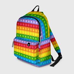 Рюкзак Pop It цвета 3D-принт — фото 1