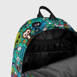 Рюкзак Стикербомбинг цвета 3D-принт — фото 2