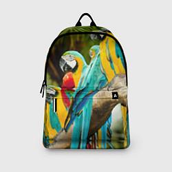 Рюкзак Попугаи на ветке цвета 3D — фото 2