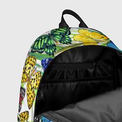 Рюкзак Тропические бабочки цвета 3D-принт — фото 2