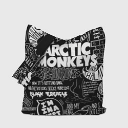 Сумка-шопер Arctic Monkeys: I'm in a Vest цвета 3D-принт — фото 1