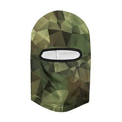 Балаклава Полигональный камуфляж цвета 3D-черный — фото 2