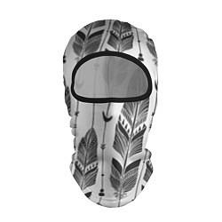 Балаклава Перья цвета 3D-черный — фото 1
