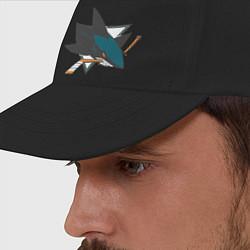 Бейсболка San Jose Sharks цвета черный — фото 2